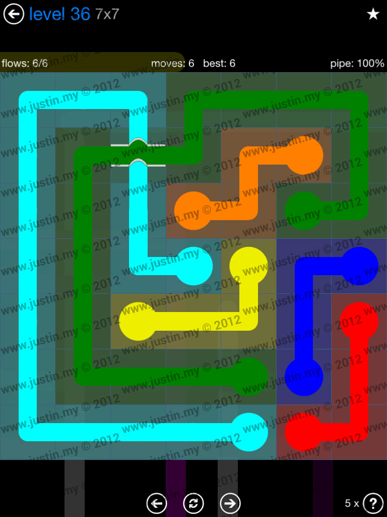 Flow Bridges 7x7 Level 36