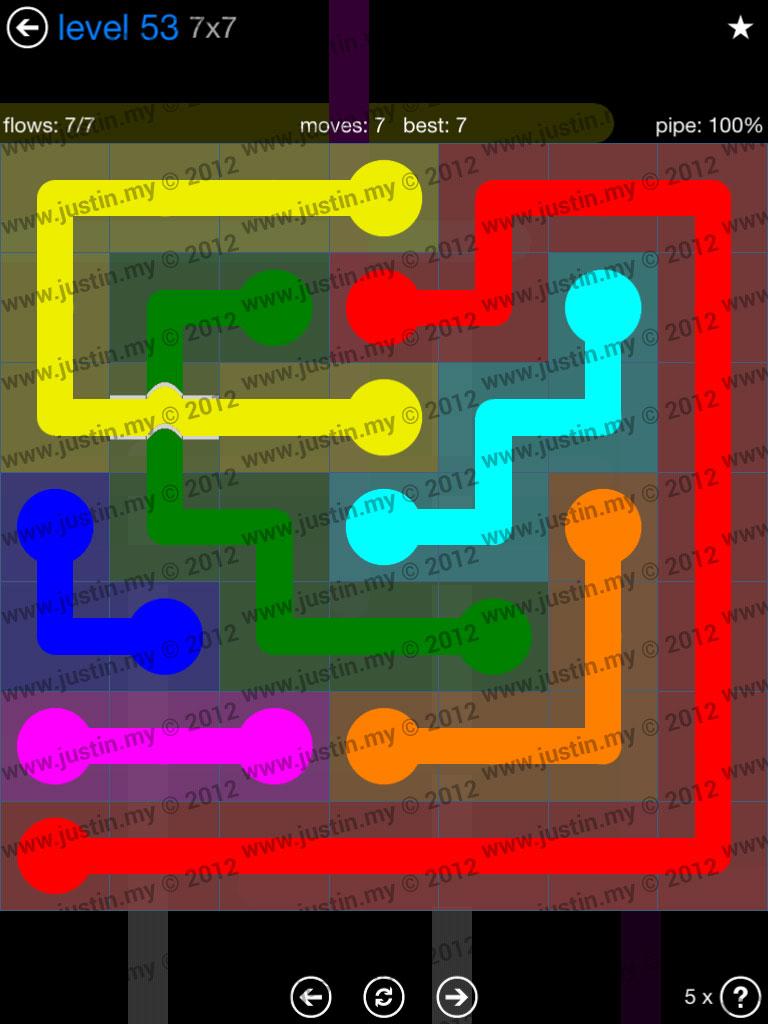 Flow Bridges 7x7 Level 53