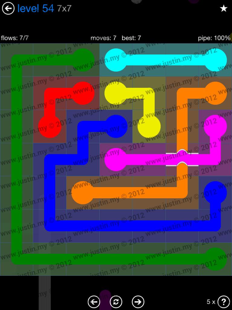 Flow Bridges 7x7 Level 54