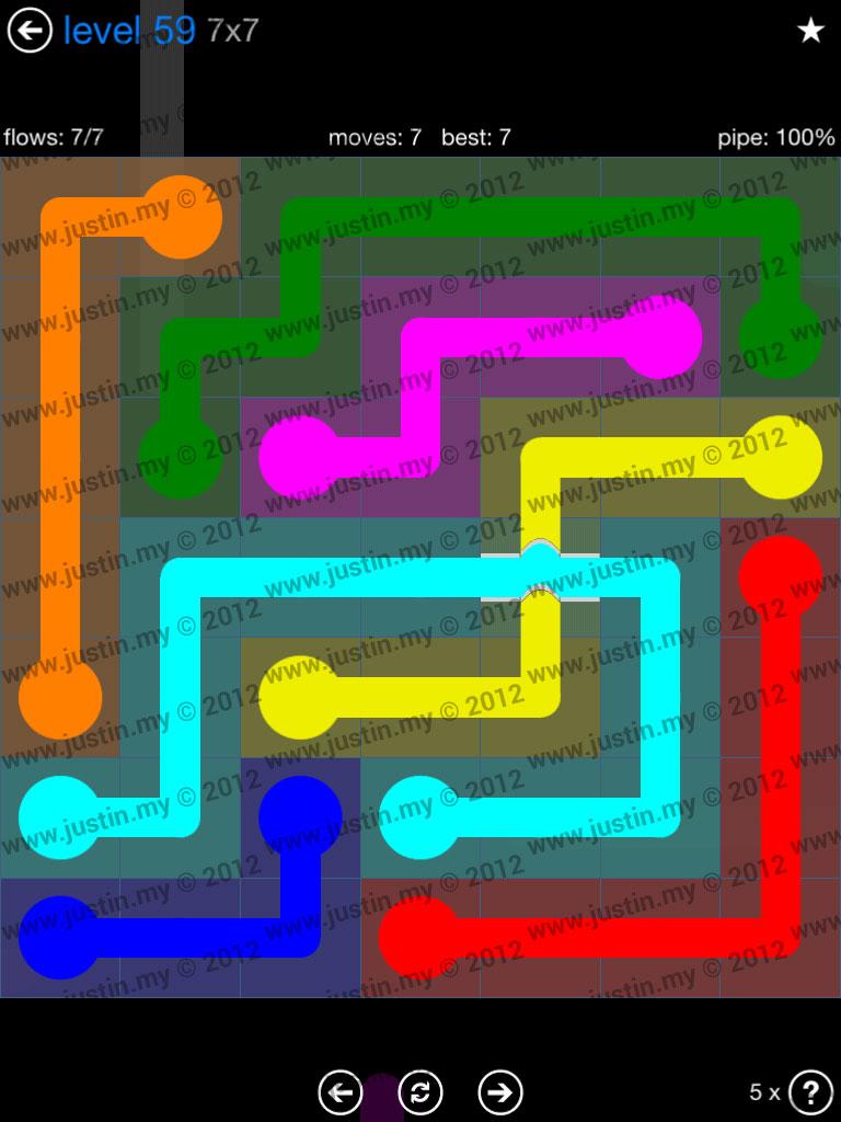 Flow Bridges 7x7 Level 59