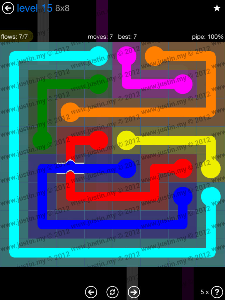 Flow Bridges 8x8 Level 15