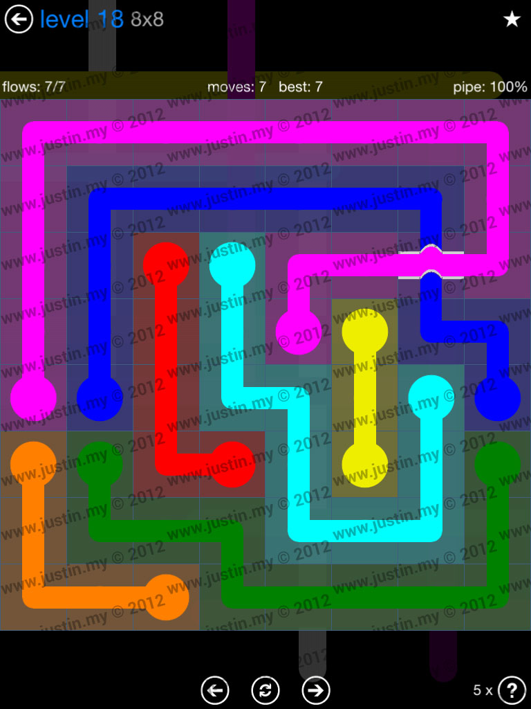 Flow Bridges 8x8 Level 18