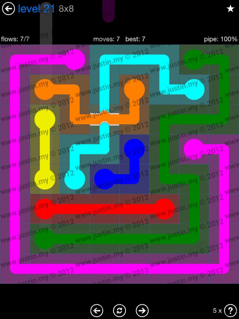 Flow Bridges 8x8 Level 21