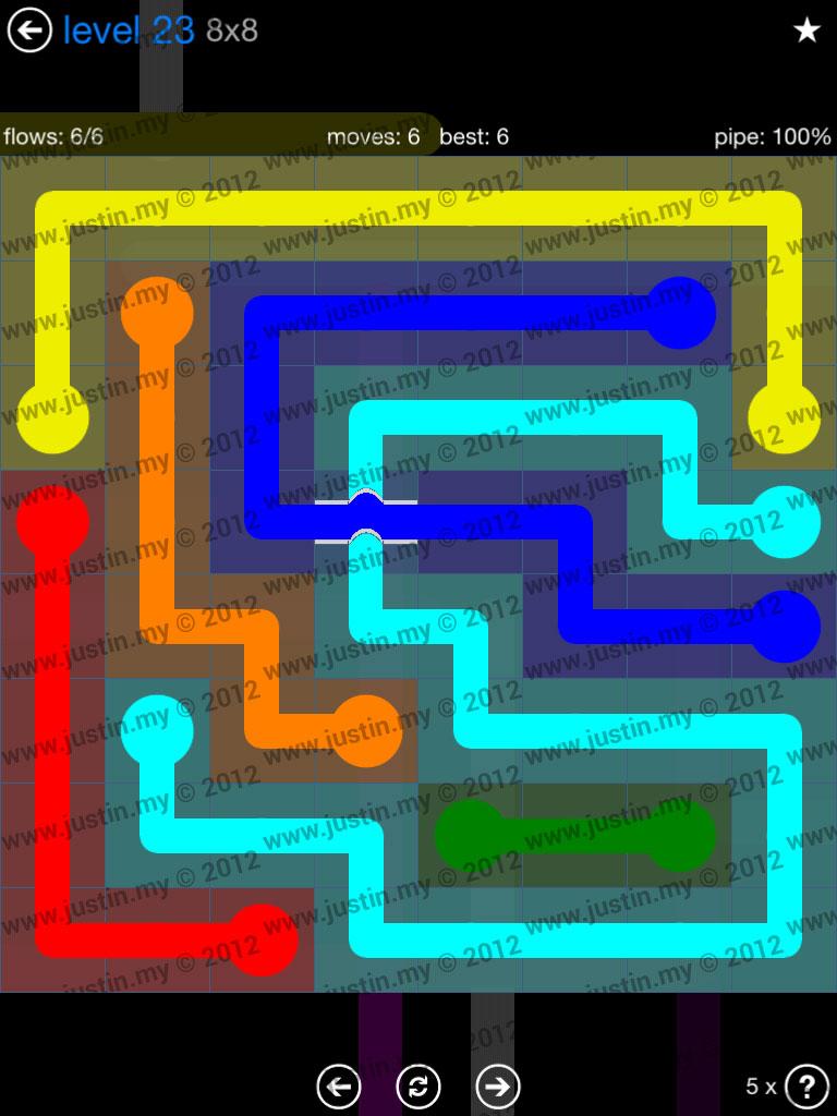 Flow Bridges 8x8 Level 23