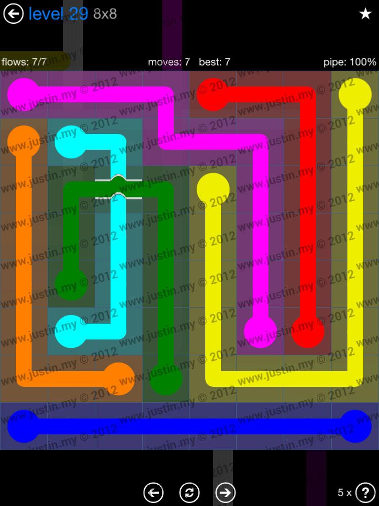 Flow Bridges 8x8 Level 29
