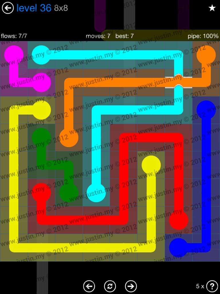 Flow Bridges 8x8 Level 36