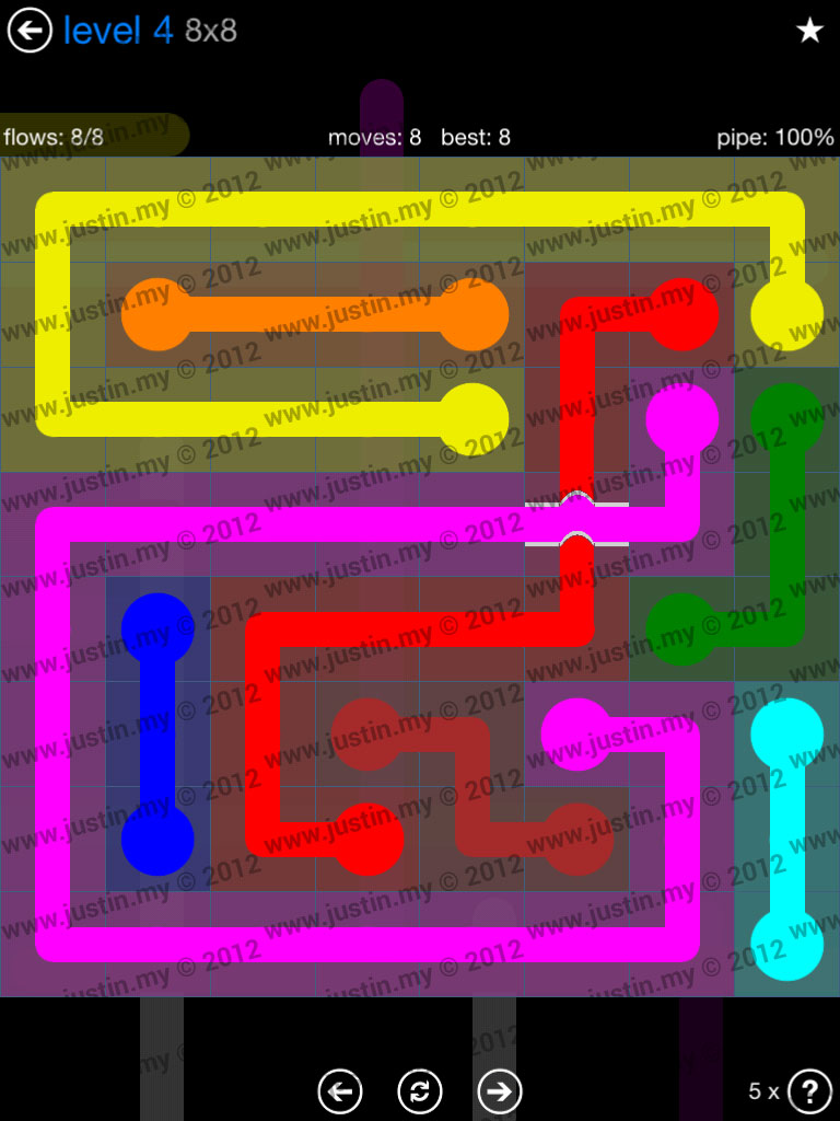 Flow Bridges 8x8 Level 4
