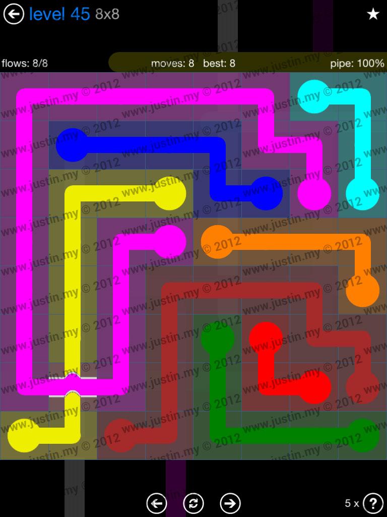 Flow Bridges 8x8 Level 45