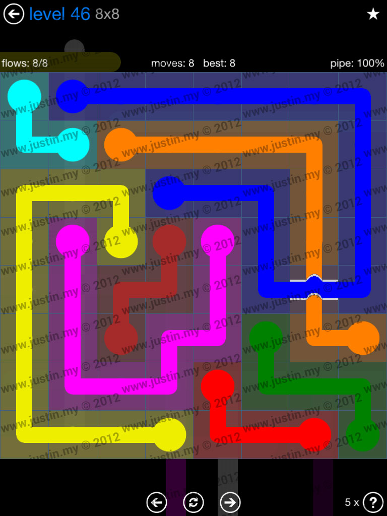 Flow Bridges 8x8 Level 46