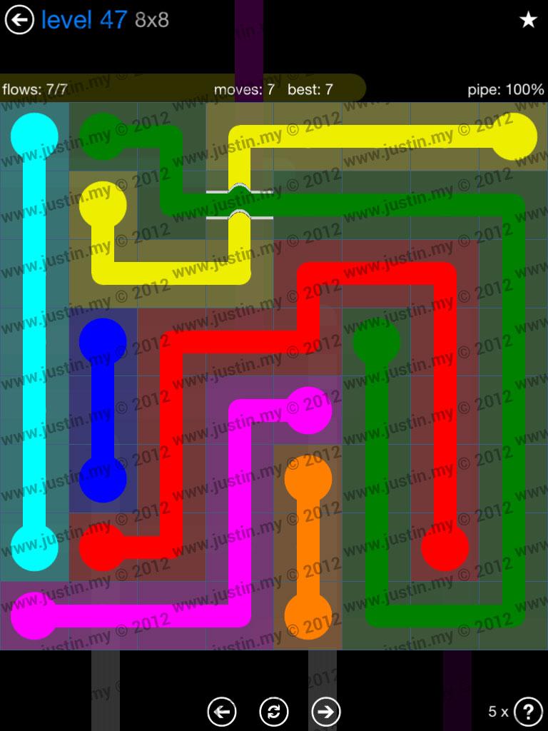Flow Bridges 8x8 Level 47