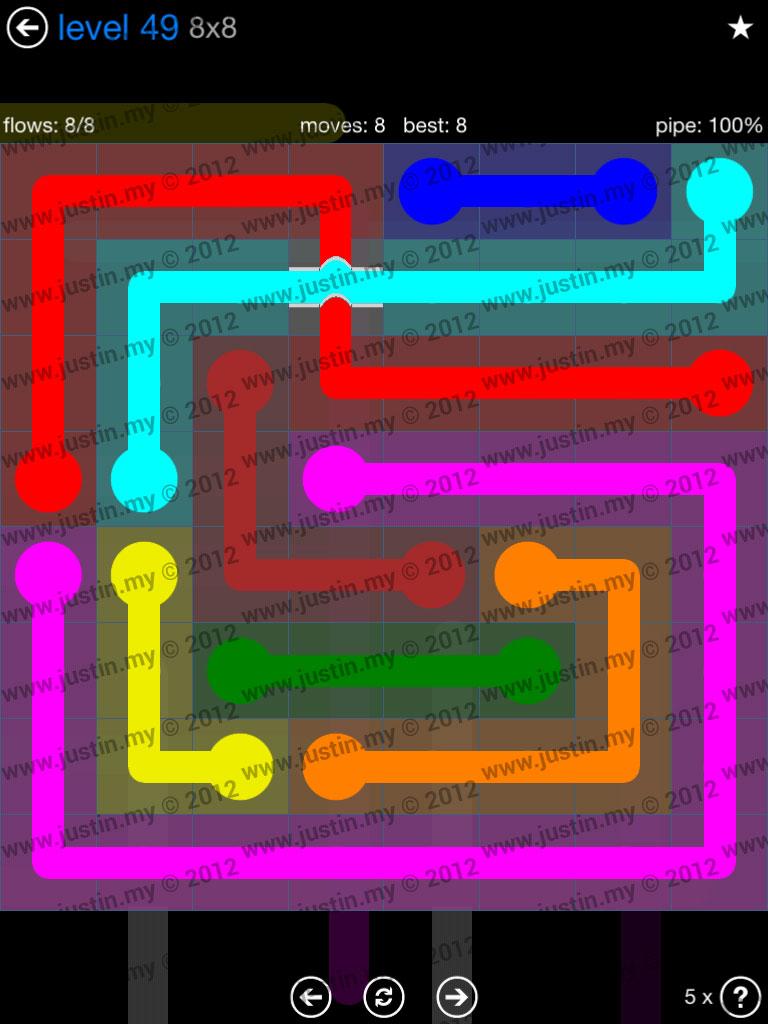 Flow Bridges 8x8 Level 49