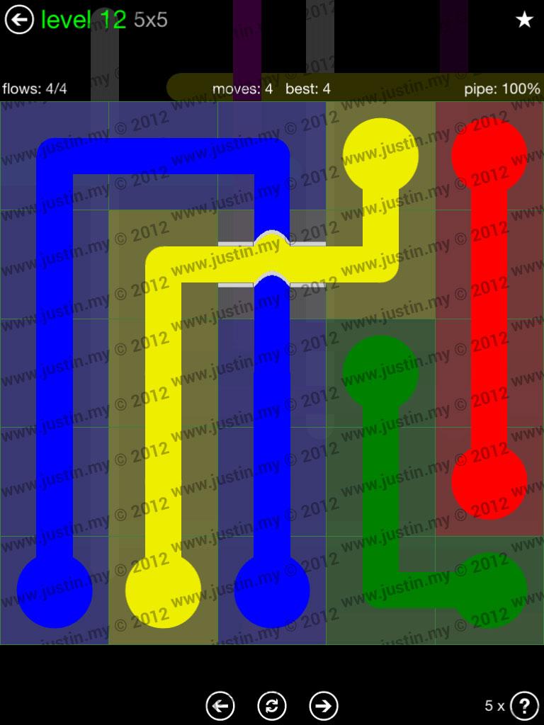 Flow Bridges 5x5 Level 12