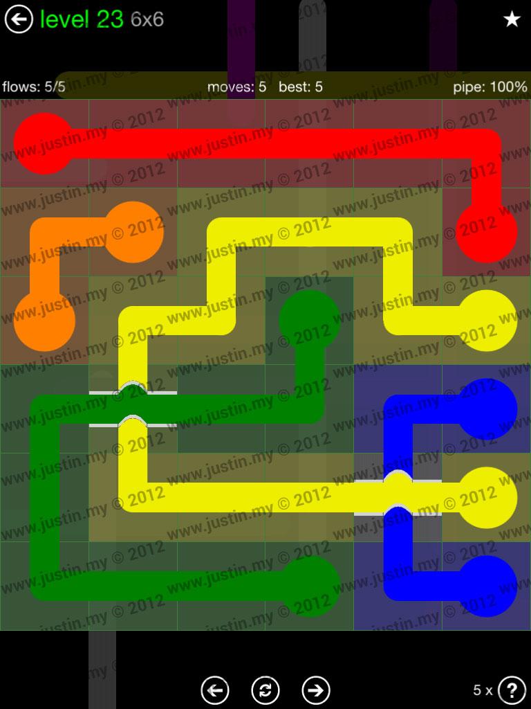 Flow Bridges 6x6 Level 23