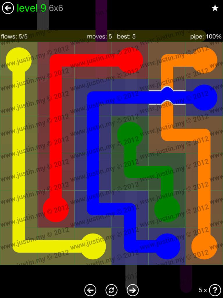 Flow Bridges 6x6 Level 9