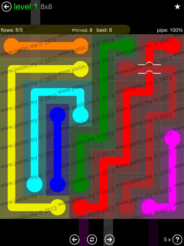 Flow Bridges 8x8 Level 1