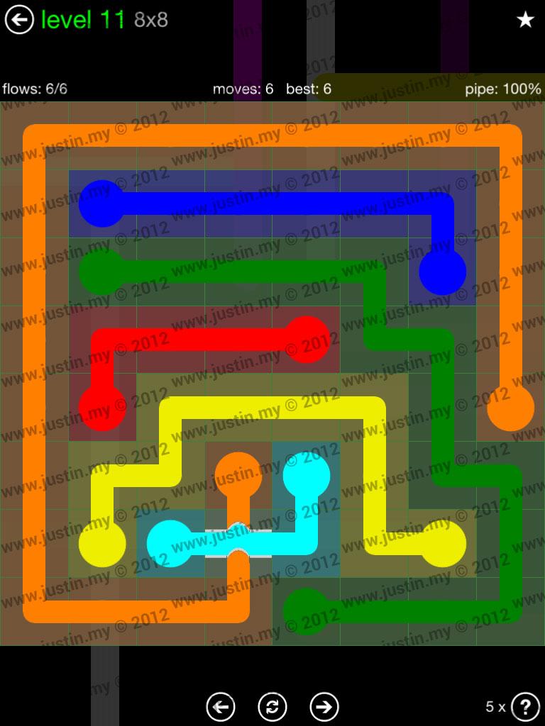 Flow Bridges 8x8 Level 11