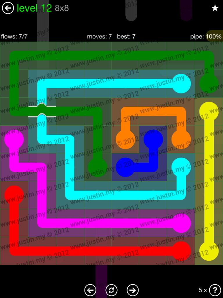 Flow Bridges 8x8 Level 12