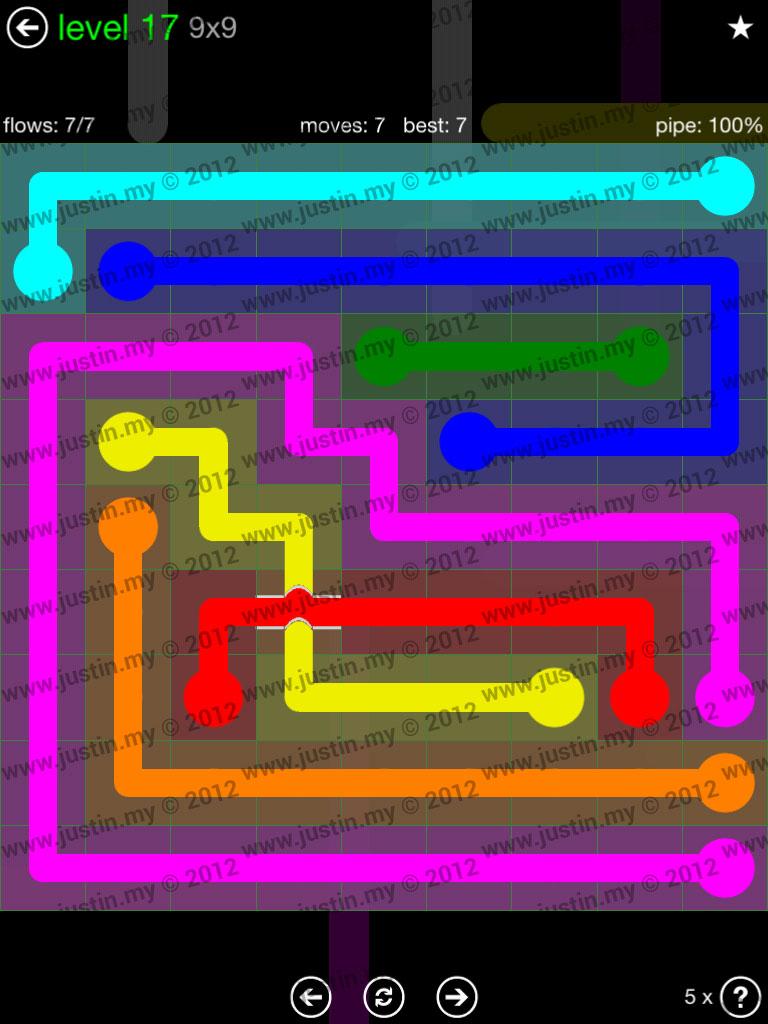 Flow Bridges 9x9 Level 17