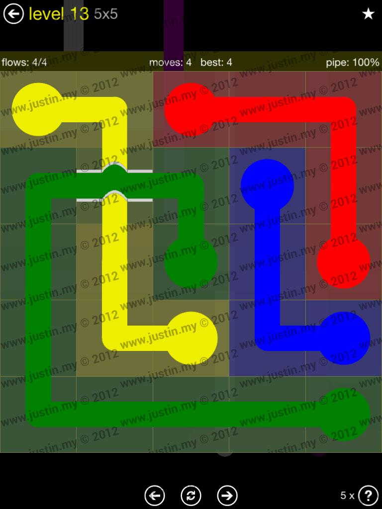 Flow Bridges 5x5 Level 13