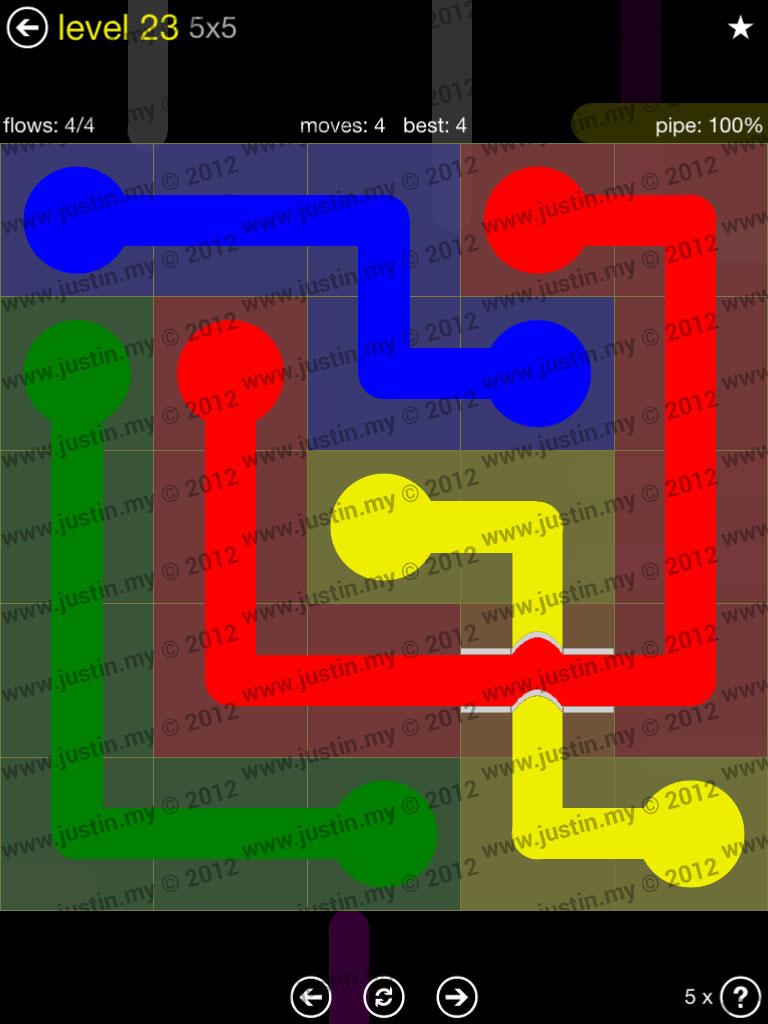 Flow Bridges 5x5 Level 23