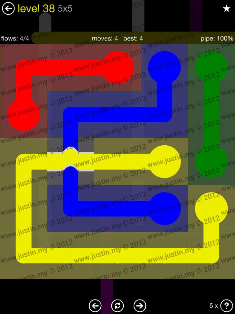 Flow Bridges 5x5 Level 38