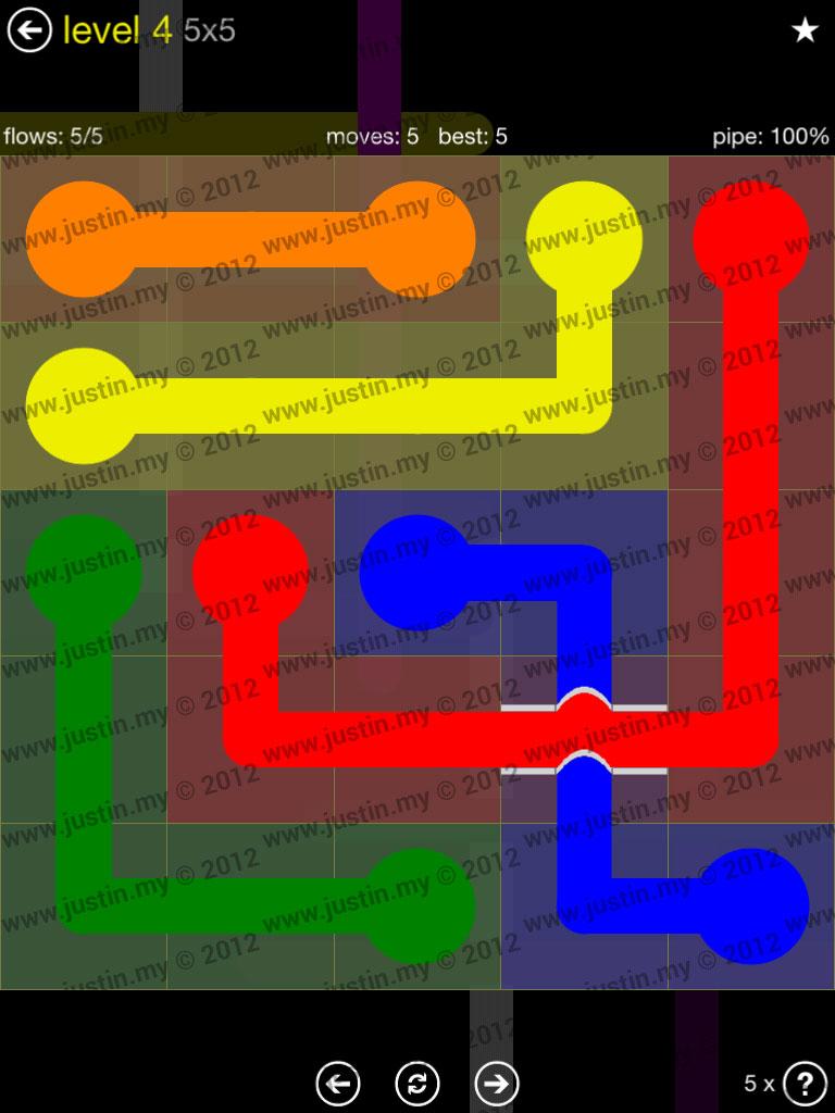 Flow Bridges 5x5 Level 4