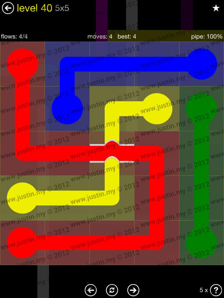 Flow Bridges 5x5 Level 40