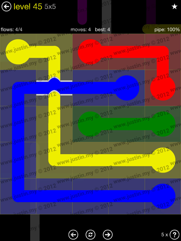 Flow Bridges 5x5 Level 45