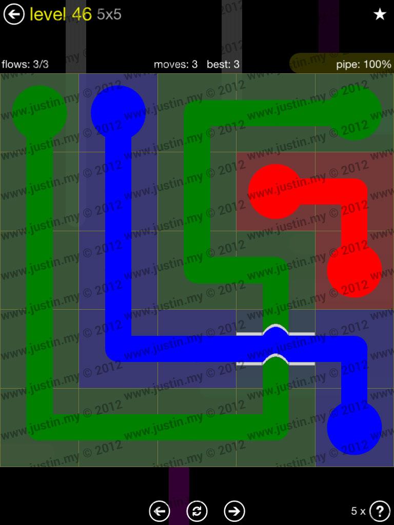 Flow Bridges 5x5 Level 46