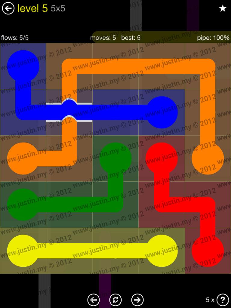 Flow Bridges 5x5 Level 5