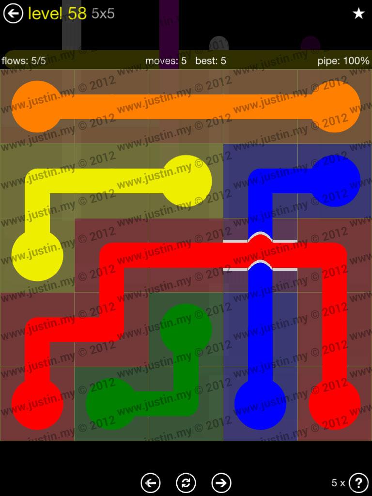 Flow Bridges 5x5 Level 58
