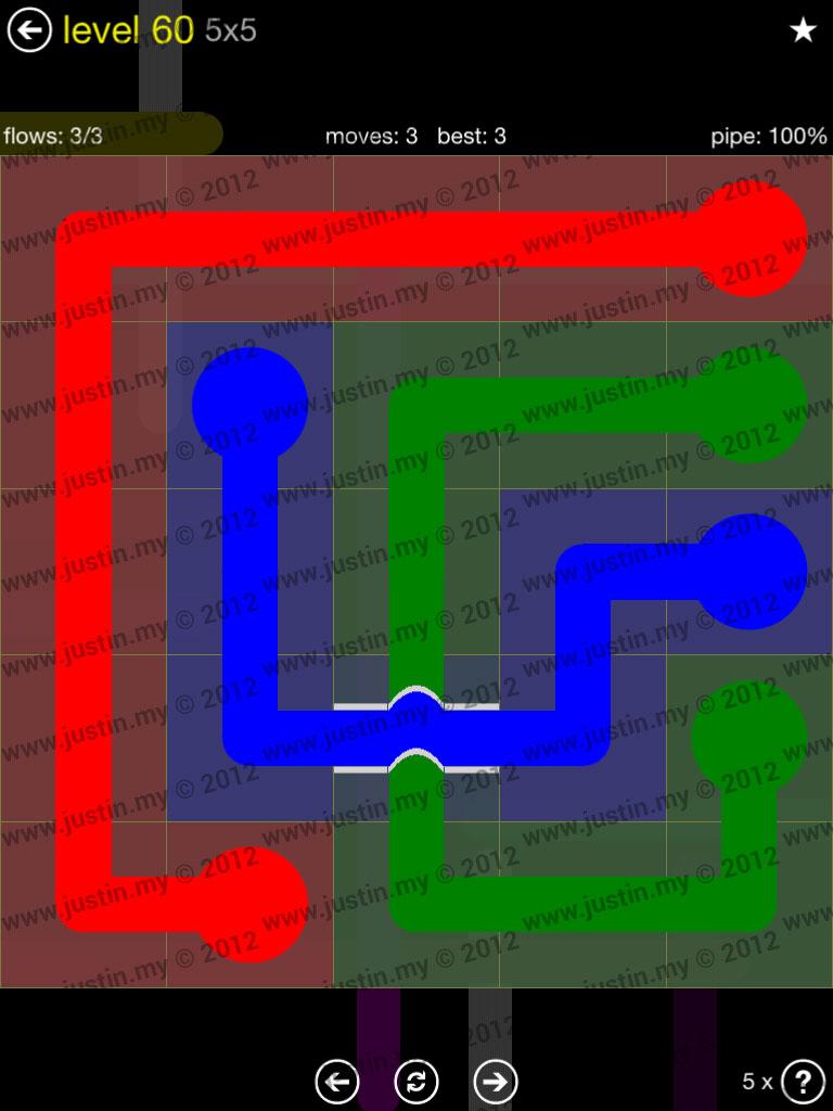 Flow Bridges 5x5 Level 60