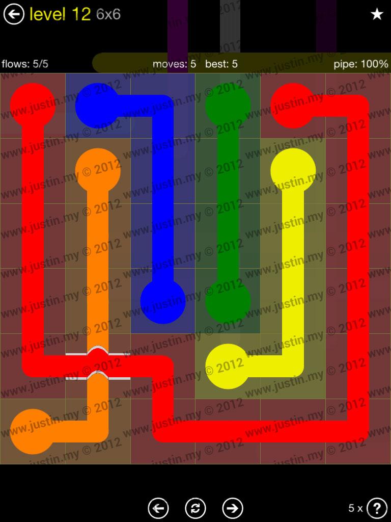 Flow Bridges 6x6 Level 12