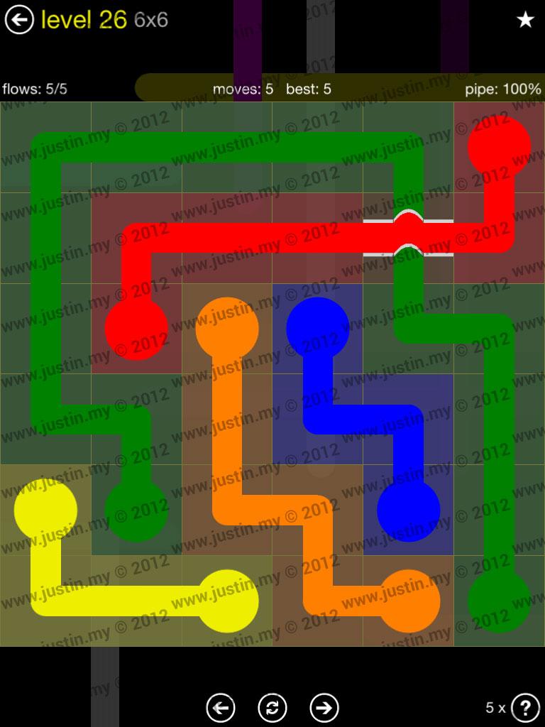 Flow Bridges 6x6 Level 26