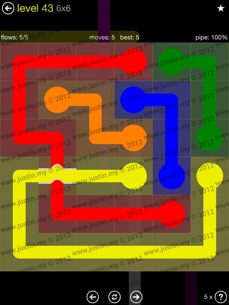 Flow Bridges 6x6 Level 43