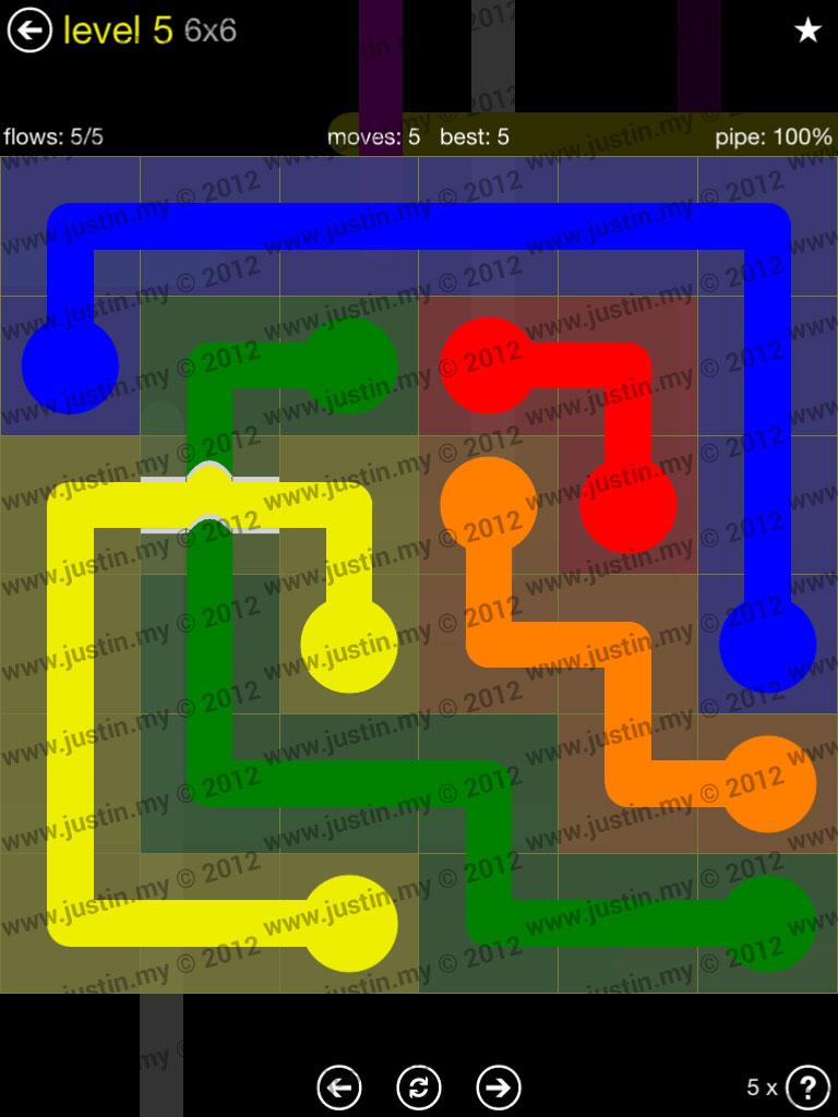 Flow Bridges 6x6 Level 5