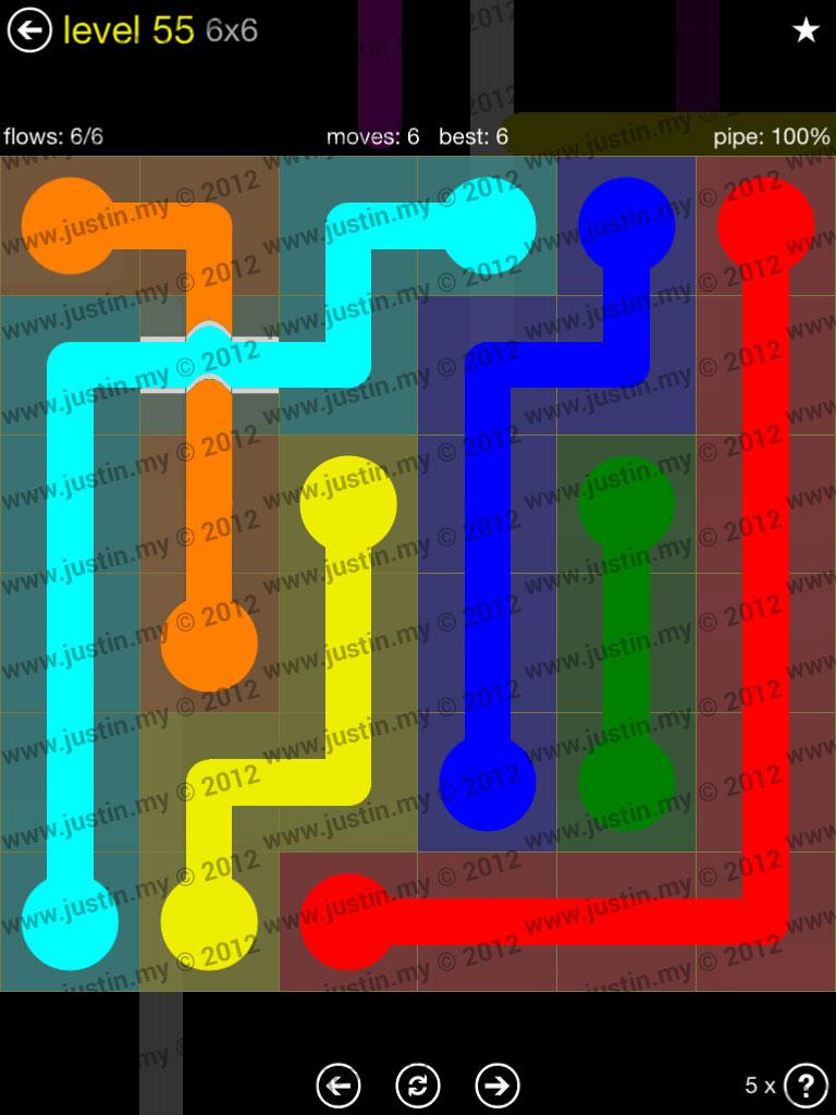 Flow Bridges 6x6 Level 55