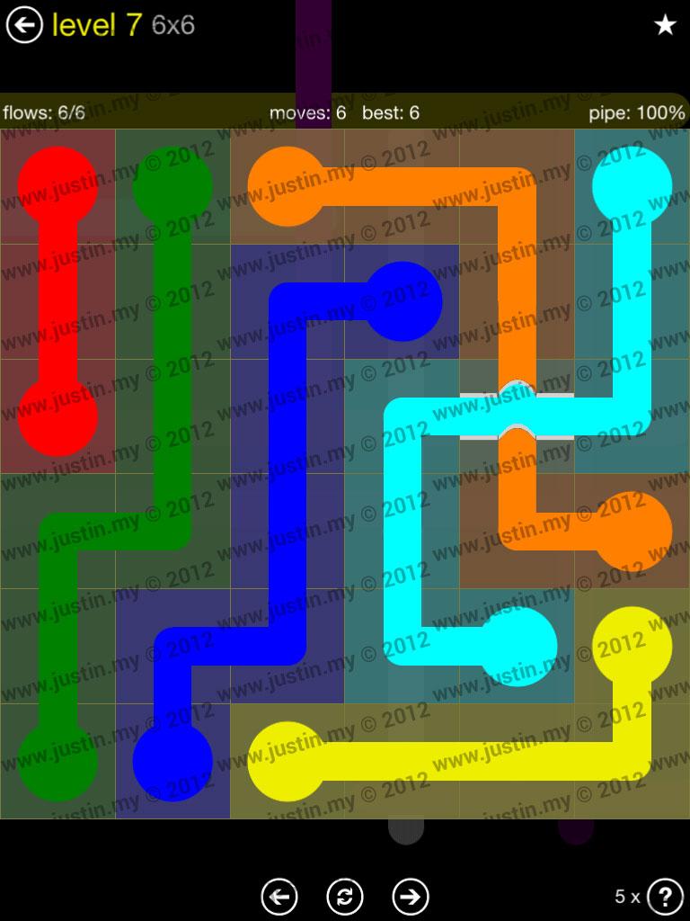 Flow Bridges 6x6 Level 7