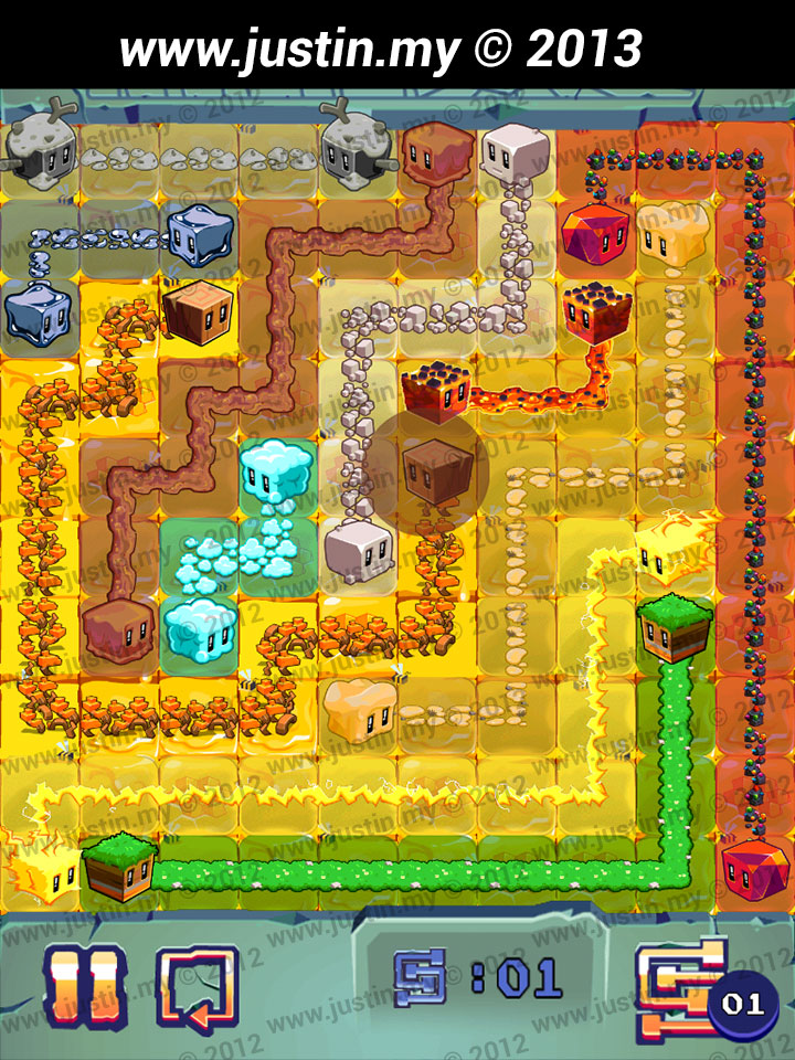 Lost Cubes 10x10 Level 21