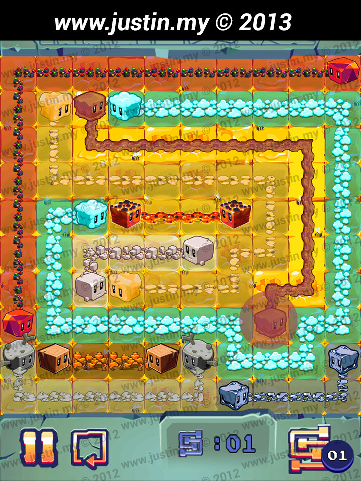 Lost Cubes 10x10 Level 29