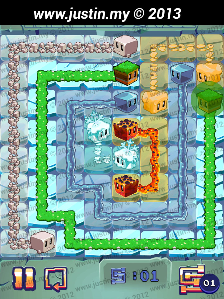 Lost Cubes 8x8 Level 1