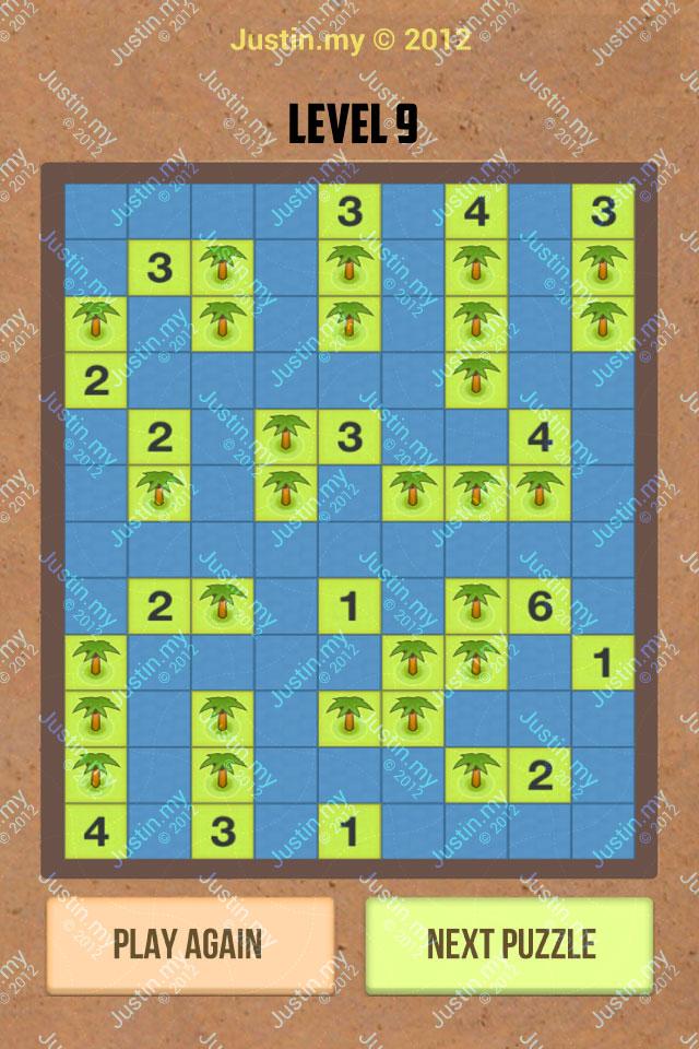 Number Island Nurikabe Master Pack Level 9