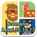 Answers for Icomania Level 15,16,17 Updated
