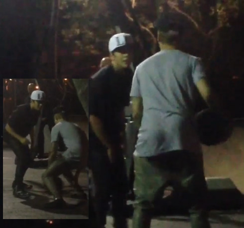 Justin Bieber Amp Austin Mahone Play BasketBall In Miami