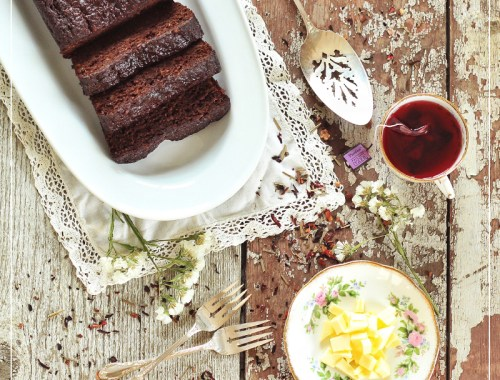 Decadent Dark Chocolate Banana BRead