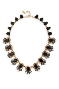 Get Glam Black Rhinestone Statement Necklace
