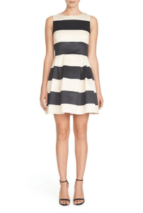 CECE BY CYNTHIA STEFFE Elegant Bold Stripe Dress