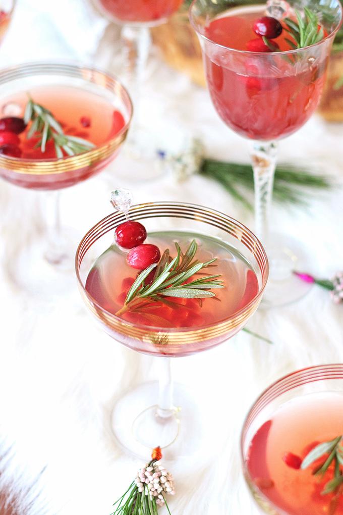 Sparkling Pomegranate Cranberry Sangria // JustineCelina.com