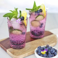 BLUEBERRY LEMON AND CUCUMBER GIN MOJITOS
