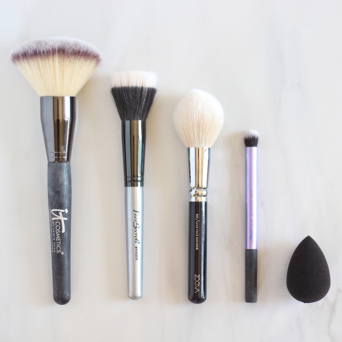 Makeup Brush 101 | Your Complete Guide to Makeup Brushes and How to Use Them | The Best Face Brushes // JustineCelina.com